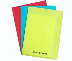深圳厂家定制U型文件夹 两页袋 塑料档案袋